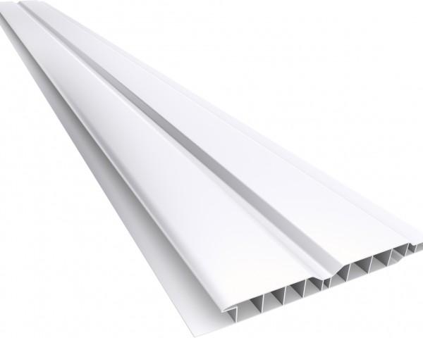 Forro PVC 100 Canelado 10mm Branco