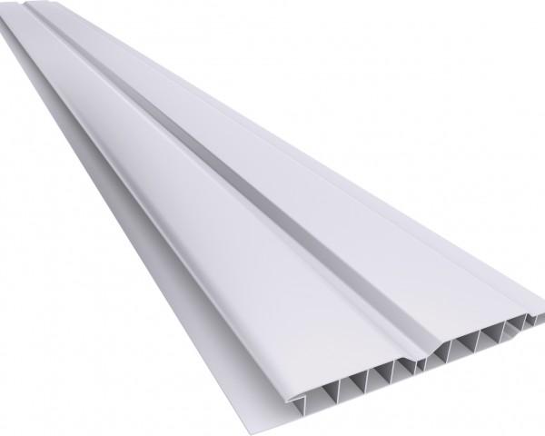 Forro PVC 100 Canelado 10mm Cinza