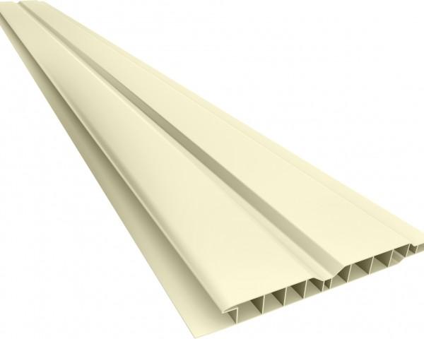 Forro PVC 100 Canelado 10mm Creme