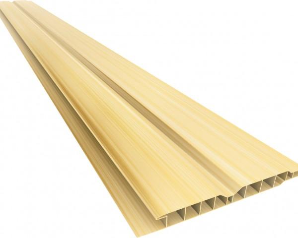 Forro PVC 100 Canelado 10mm Natural